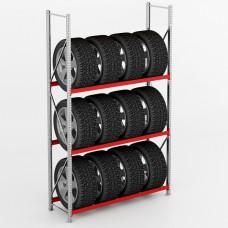 Дополнительная секция стеллажа для колес и шин СГР 1200х400х1980 K/400/3 DS (400 кг/полку)