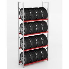 Дополнительная секция стеллажа для колес и шин СГР 900х400х1980 K/300/4 DS (300 кг/полку)