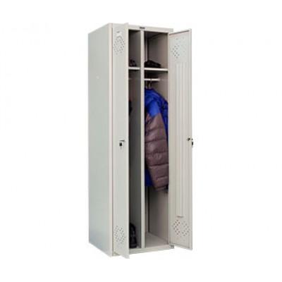 Шкаф для раздевалок ПРАКТИК LS-21 для гаража и дачи