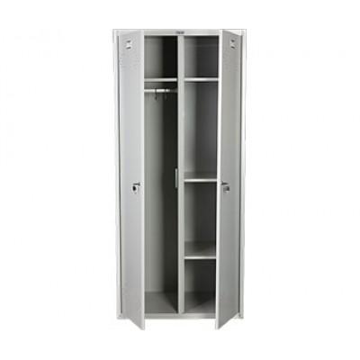 Шкаф для раздевалок ПРАКТИК LS-21-80 U для гаража и дачи
