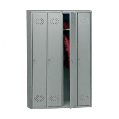 Шкаф для раздевалок ПРАКТИК LS-41 для гаража и дачи