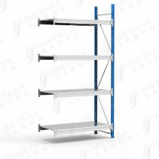 Дополнительная секция стеллажа металлического среднегрузового SGR-V 1284-2,0 DS