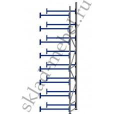 Дополнительная секция среднегрузового стеллажа СГУ-50 3000х500х6000 с 8 полками (Без настила, 700 кг/полку)