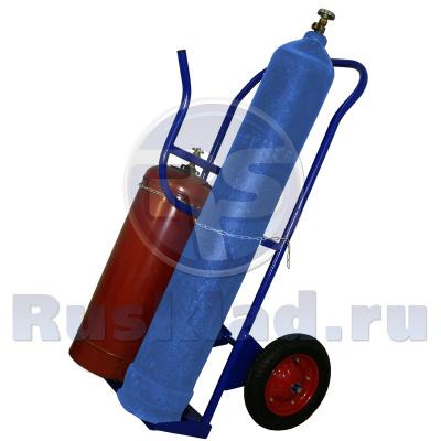 Тележка для транспортировки двух газовых баллонов КП 2 У