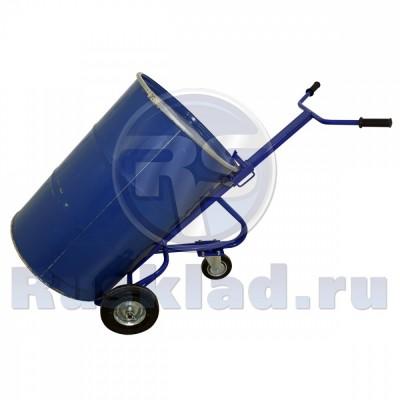 Бочкокат. Тележка для перевозки  металлических бочек КБ 1